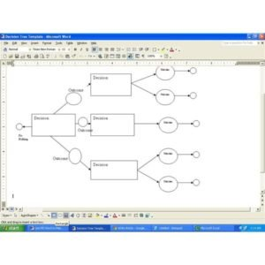 Creating a decision tree in MS Word