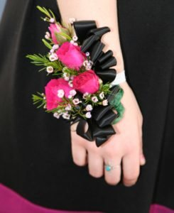 Pink_and_black_wrist_corsages