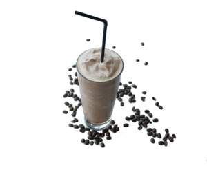 sprinkle chocolate powder over shake